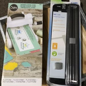 Sizzix Multipurpose Platform & Carl Paper Trimmer